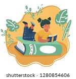 vector cartoon illustration of... | Shutterstock .eps vector #1280854606