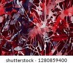 distress seamless pattern. red...   Shutterstock . vector #1280859400
