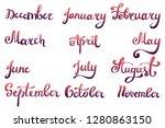 gradient handwritten set of... | Shutterstock . vector #1280863150