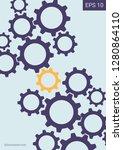 industrial engineering... | Shutterstock .eps vector #1280864110