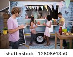 customers having snacks from... | Shutterstock . vector #1280864350
