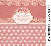 greeting card. vintage... | Shutterstock .eps vector #128086544