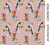 watercolor seamless pattern... | Shutterstock . vector #1280867833
