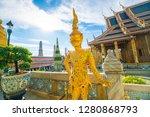 grand palace of bangkok wat pra ... | Shutterstock . vector #1280868793