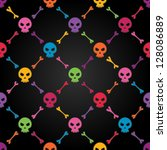 multicolor seamless pattern...   Shutterstock .eps vector #128086889