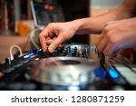 dj console cd mp4 deejay mixing ...   Shutterstock . vector #1280871259