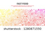 fast food concept. vector... | Shutterstock .eps vector #1280871550