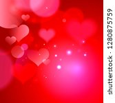 abstract backdrop with hearts... | Shutterstock .eps vector #1280875759