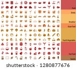 big   food and drink icon set  | Shutterstock .eps vector #1280877676