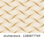 the geometric pattern with wavy ... | Shutterstock . vector #1280877769