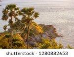 sundown on evening time at...   Shutterstock . vector #1280882653