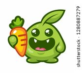 vector illustration of a cute...   Shutterstock .eps vector #1280887279