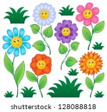 Cartoon Flowers Collection 1  ...