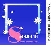 trendy design template 8 march. ... | Shutterstock .eps vector #1280890999
