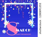 trendy design template 8 march. ... | Shutterstock .eps vector #1280891353