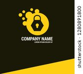 lock  security logo concept....