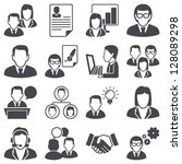 icons set  business people | Shutterstock .eps vector #128089298