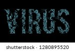 virus futuristic binary text... | Shutterstock . vector #1280895520