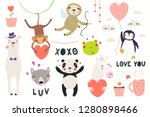 big valentines day set with... | Shutterstock .eps vector #1280898466