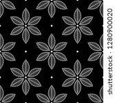 seamless black and white...   Shutterstock .eps vector #1280900020