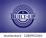 built up denim background | Shutterstock .eps vector #1280902360