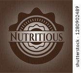 nutritious retro wooden emblem | Shutterstock .eps vector #1280902489