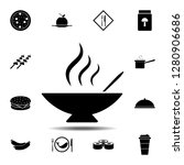 soup  hot  plate  spoon icon....