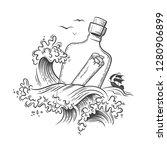 sea ocean graphic vector...   Shutterstock .eps vector #1280906899