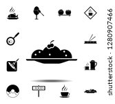 pie  plate icon. simple glyph...