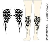 tribal symmetric pattern... | Shutterstock .eps vector #1280909620