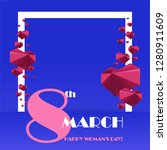 trendy template 8 march. neon... | Shutterstock .eps vector #1280911609