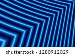 black blue fractal stripes... | Shutterstock . vector #1280912029