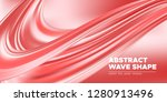 coral flow background  3d... | Shutterstock .eps vector #1280913496