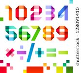 spectral numbers folded of... | Shutterstock .eps vector #128091410