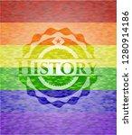 history lgbt colors emblem  | Shutterstock .eps vector #1280914186