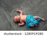 close up on newborn baby on the ... | Shutterstock . vector #1280919280