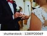 wedding at the church  close up ... | Shutterstock . vector #1280920069