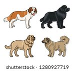 dogs of different breeds in... | Shutterstock .eps vector #1280927719