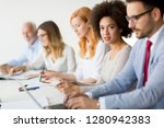 view of multiracial business... | Shutterstock . vector #1280942383