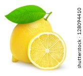 Isolated Lemon. One Whole Lemo...