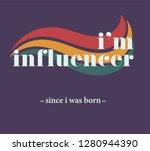 teenage slogan vector... | Shutterstock .eps vector #1280944390