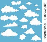 cartoon cloud set | Shutterstock .eps vector #1280960200