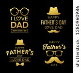 happy father's day gold design... | Shutterstock .eps vector #1280960986