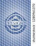 eyesight blue hexagon emblem. | Shutterstock .eps vector #1280961370