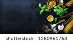 food frame  italian food... | Shutterstock . vector #1280961763