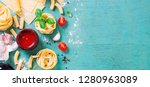 italian food background with... | Shutterstock . vector #1280963089