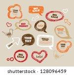 hand drawn speech bubbles | Shutterstock .eps vector #128096459