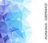 blue polygonal mosaic...   Shutterstock .eps vector #1280966413