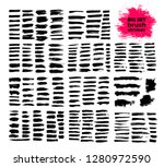 giant set of black brush... | Shutterstock .eps vector #1280972590