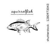 squirrel fish vector....   Shutterstock .eps vector #1280973043